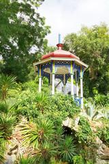 pavilion in green Nikitsky Botanical Garden