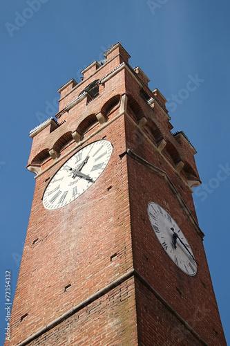 canvas print picture Turm mit Zeit