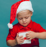 Child with christmas box
