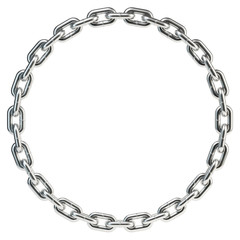 Chain coiled in a circle