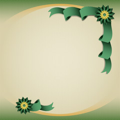Green silk premium ribbon