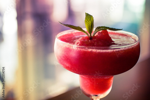 Foto op Aluminium Cocktail Frozen Strawberry Daiquiri
