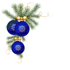 Blue Christmas Ornaments in vectors