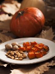 Autumn pumpking healty breakfast