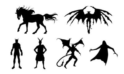 demon halloween vector