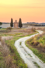 Tuscan house with a picturesque background