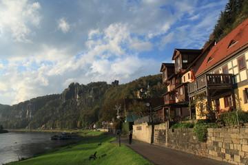 Rathener Elbufer in der Sächsischen Schweiz