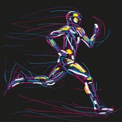 biegacz rysunek wektor