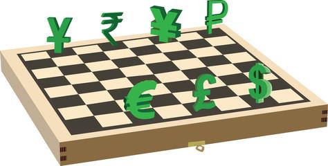 scacchiera valuta