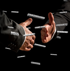 Businessmen Showing Handshake Gesture