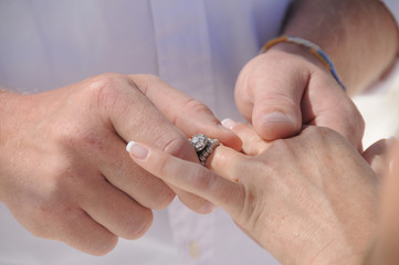 Wedding rings celebration