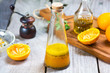 Orange salad dressing with poppy seed
