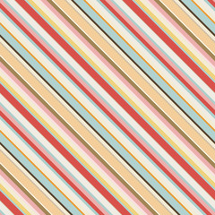 diagonal striped seamless pattern in retro colors