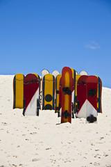 Sandboards at Joaquina dunes, Florianopolis - Brazil