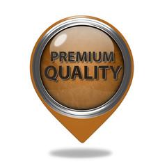 Premium quality pointer icon on white background