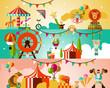 Circus performance background - 72360739