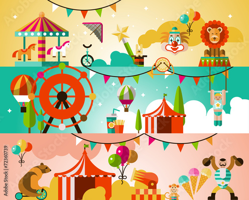 Circus performance background - 72360739