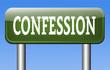 confession sign