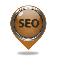 Seo pointer icon on white background
