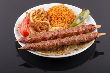 Raw Turkish Traditional Sish Meat Kebab For Cook