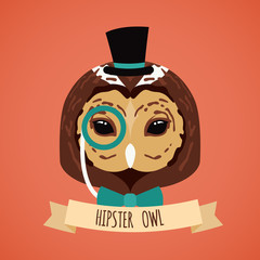 Animal hipster portrait