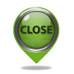 close pointer icon on white background
