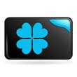 chance sur bouton web rectangle bleu