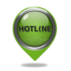 Hotline pointer icon on white background