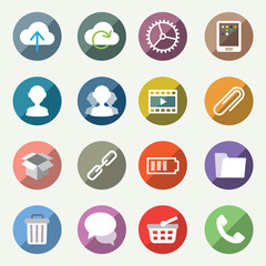 Vector icons set for web and user interface