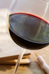Rotweinglas Trauben