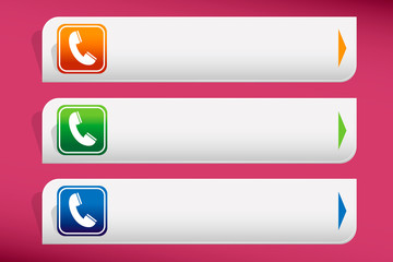 Phone icon and design template vector. Graphic or website.