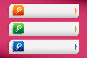 Microphone icon and design template vector. Graphic or website.