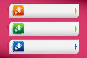 Сogs (gears) and design template vector. Graphic or website.