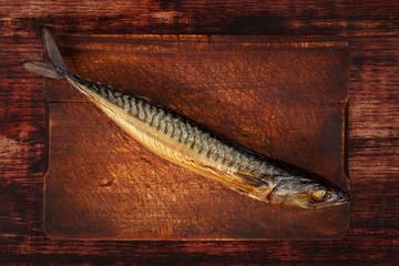 Smoked mackerel.