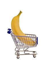Big Banana In Tiny Shopping Cart