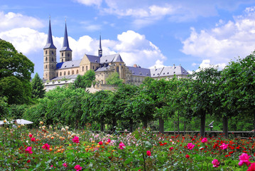 Rosengarten vor Kloster St. Michael in Bamberg