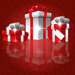 christmas gift red background