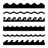 Seamless Wave Pattern Set.  Template