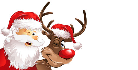 rudolph and santa background