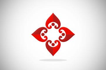 love circle design logo vector