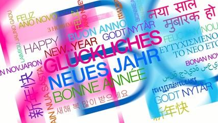 Glückliches Neues Jahr tag cloud Prost Neujahr