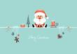 Card Santa Glasses & Symbols Retro