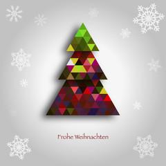 Christmas Background Frohe Weihnachten