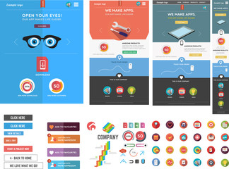 Large collection of web graphics