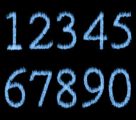 Blue Fire Numbers.