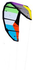 voile de kite-surf vierge de tout marquage, fond blanc