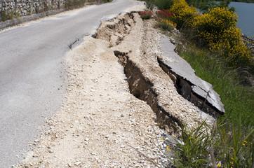 landslide road