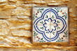 Detail of a glazed tile, Begur, Catalonia - 72369591