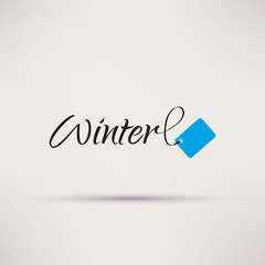 Icon of sale seasonal Winter Isolated Vector illustration.