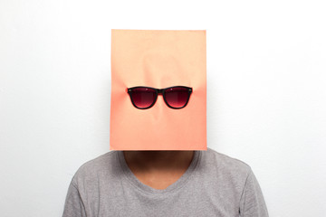 Young man on a mask